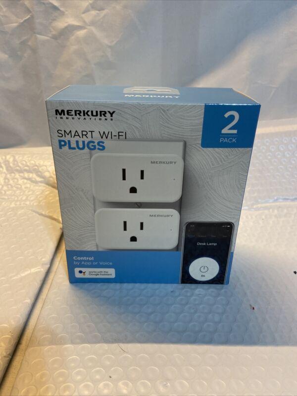 Merkury Innovations Smart Plug, 2-Pack