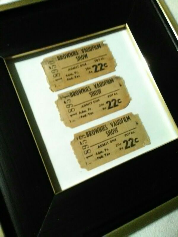 3Vintage Antique Original 1920s Brownies Vaudeville Tent Show Tickets Film Shows