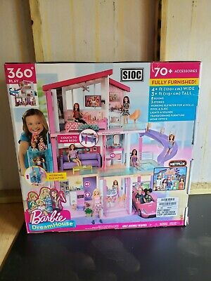 Barbie DreamHouse Playset with Pool, Elevator, Slide, 70 Accessory Pieces