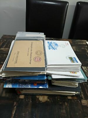 MD LARGE BOX with WW FDC, COVER, STATIONARY POSTAL etc, 103 pictures