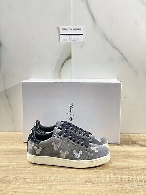 Moa Master Of Arts Sneaker Woman Disney Edition Velvet Grey Rhinestone 36