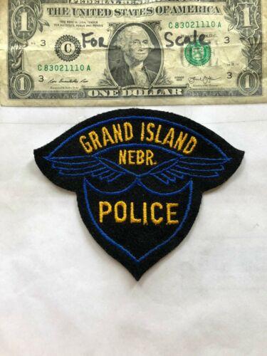 Old Grand Island Nebraska Police Patch Un-sewn in great shape