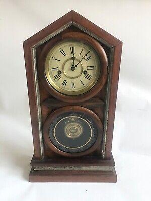 Antique Waterbury co. Doric style mantel shelf clock