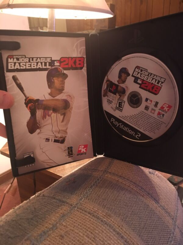 Major League Baseball 2k8 For Ps2 With Original Case And Manuals