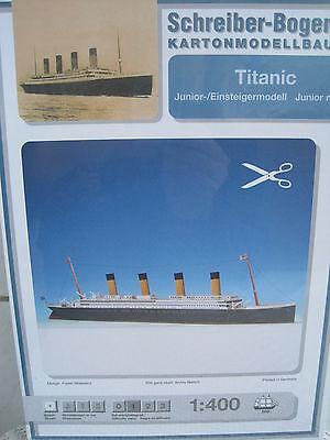 Titanic f. Einsteiger Schiff Kartonbausatz *NEU* Schreiber- Bastelbogen