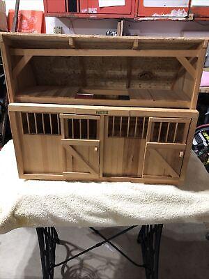 Vintage Dakin Wooden Breyer Horse Stable Barn 25 X 20 X 15