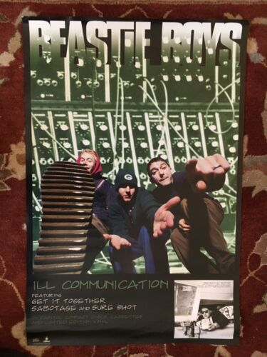 THE BEASTIE BOYS  Ill Communication  rare original promotional poster from 1994