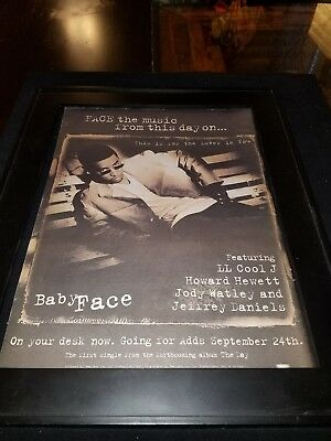 Babyface This Is For The Lover In You Rare Original Radio Promo Poster Ad Framed