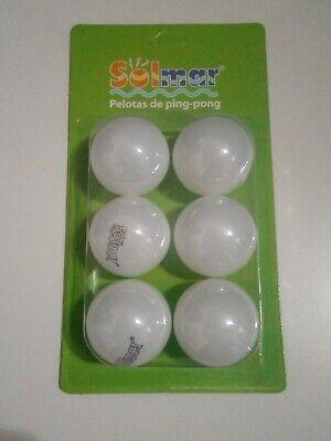 Lote de 6 pelotas de ping pong para juego de mesa Ping-Pong