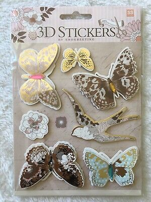 'Butterfly' 3D Paper Stickers Scrapbooking Embellishment Card making DIY craft ()