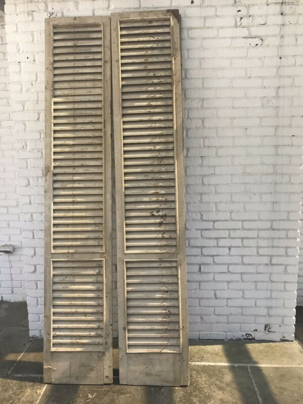 "Vintage 18"" X 84"" Wood Shutters -  10 (ten Units)- Used"