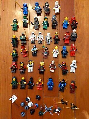 Set of 40 LEGO (NINJAGO and others) + accesories  Minifigures Ninjas,  Lot. B8