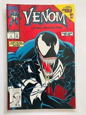 VENOM: LETHAL PROTECTOR #1 FOIL 1992 FIRST PRINT MARVEL COMICS