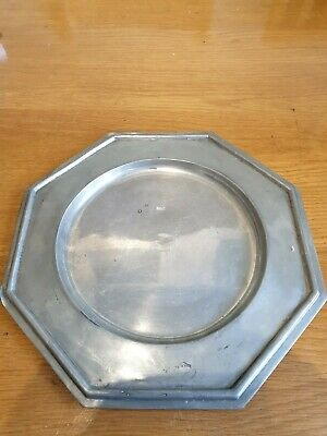 Antique Vintage Santiago Estanho Puro 97.5% Portugal Pewter Plate