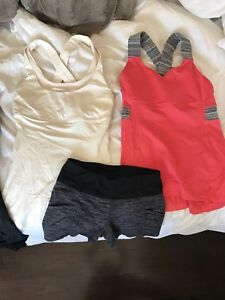 Lululemon tops shorts and sweater