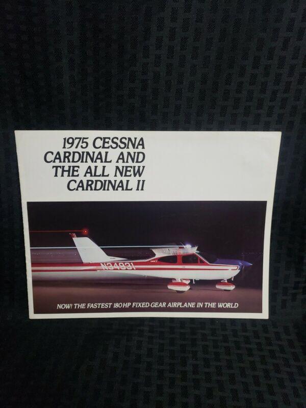 Cessna Factory Brochure 1975 Cardinal Cardinal II Rare
