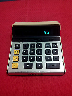 VINTGE CALCULATOR  Canon L813II  MADE IN JAPAN 1984