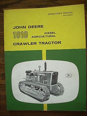 Jd John Deere 1010 Diesel Crawler Owners Manual