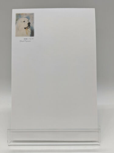 New Great Pyrenees Pet Dog Note Pad Set - 5 Note Pads By Ruth Maystead GPY-2
