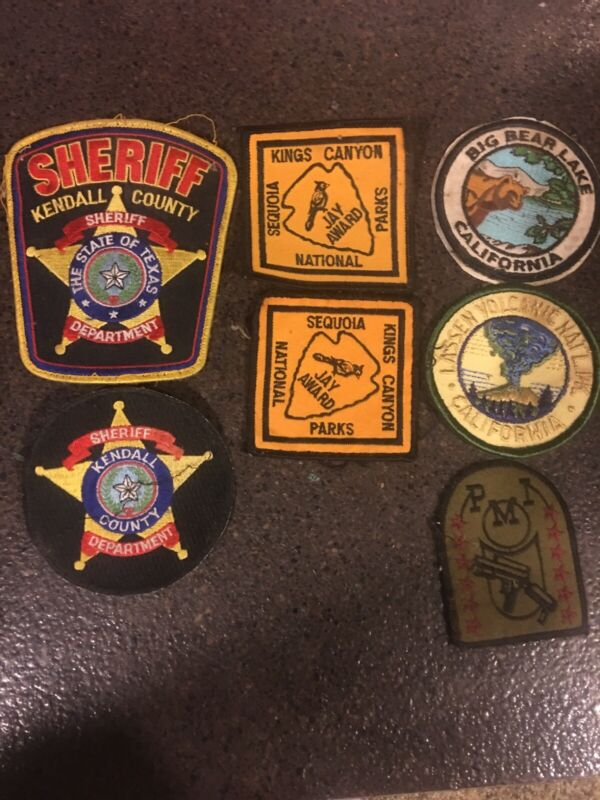 California & Texas Patch Lot