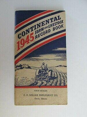 XX119 45 Miller Implement Davis IL Illinois Farm record book livestock notebook
