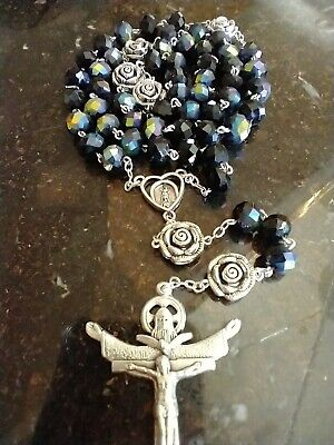 Vintage Religious Medal Lady of the Rosary Fatima Immaculate Heart of Mary Catholic Gifts for Him or Her