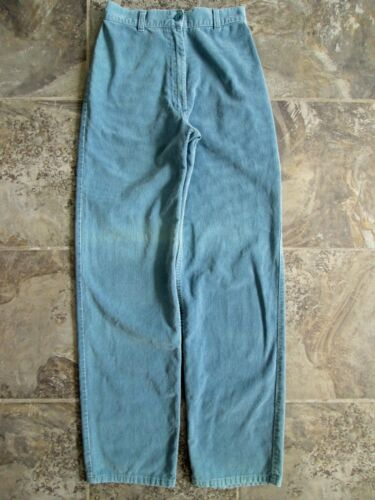 VTG Foxmoor Corduroy Pants 11 25x31 Blue Tapered Leg High Waist Hipster Cotton