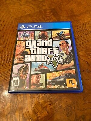 Grand Theft Auto V GTA 5 PS4 Sony PlayStation 4 Complete With Map FREE SHIP