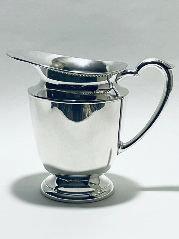 Marvelous Vintage Georgian Style Footed Bristol Silver Plated Water Pitcher