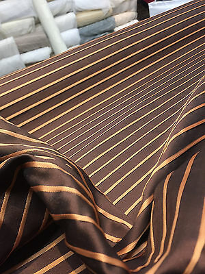 Rust Brown 120 inch double width raised stripes Reversible fabric By The Yard