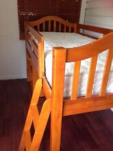 Timber loft bunk bed with desk Lennox Head Ballina Area Preview