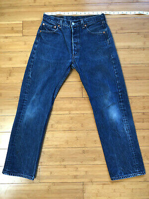 Vintage 90's Levi's 501 Shrink to Fit Denim Jeans 31x32 Made in Mexico