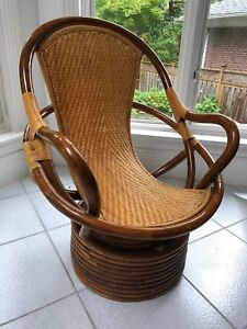 Modern Style Bamboo chair Turnable Round