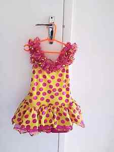 Pink and Yellow Polka Dot Jazz Costume Eden Hill Bassendean Area Preview