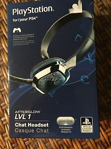 Afterglow level one chat headset for PS4