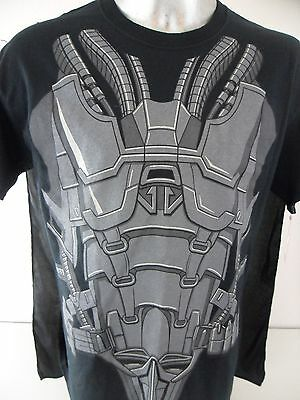 Superman General ZOD Man Of Steel Large Costume T Shirt With Cape Halloween (General Zod T Shirt Man Of Steel)