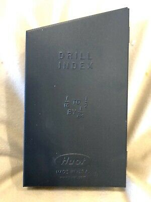 Huot Drill Index Machinist Tool Made Usa 116 - 12 By 164