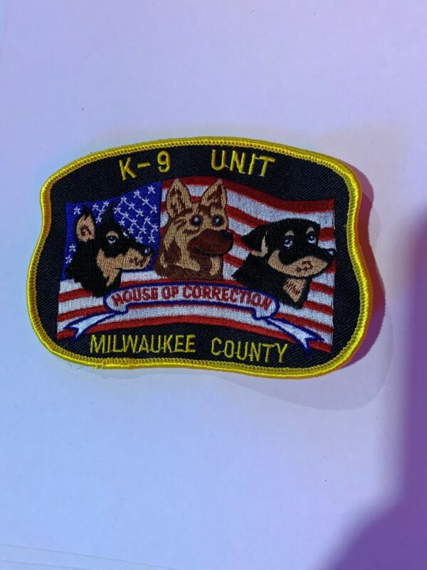Vint Rare Milwaukee County House Of Correction K9 Unit Patch Very Hard To Get