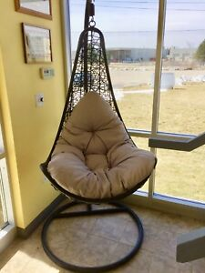 Hanging chair with stand cushion basket BRAND NEW