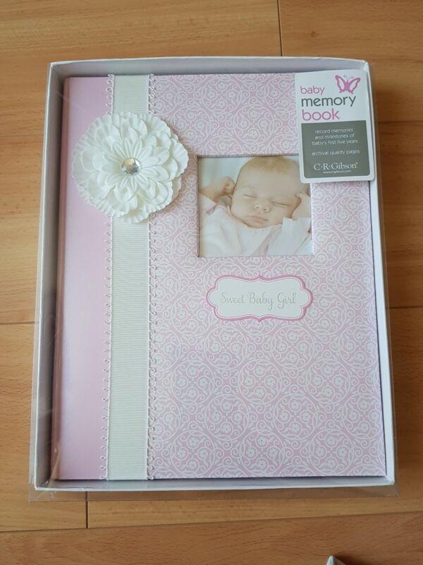 NEW CR Gibson Bella Baby Girl Memory Keepsake Book Giraffe Pink
