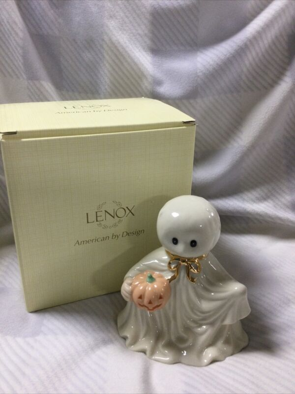 Lenox Halloween Scary Trick or Treat Ghost Figure New in Box