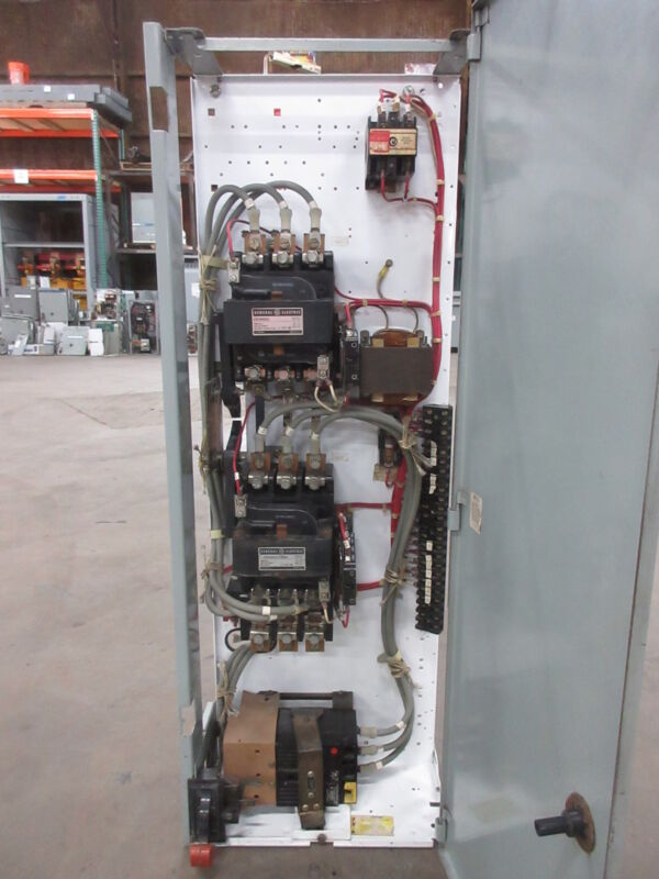 "General Electric GE 8000 Size 3 Reversing Starter 100 Amp Breaker 42"" MCC Bucket"