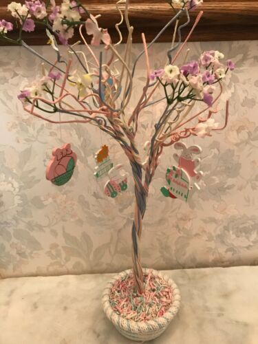 Easter Jubilee Easter Tree with 12 Wood Ornaments