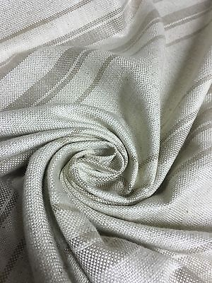 CREAM AND GREY BEST QUALITY CHENILLE FABRIC 1.9 METRES