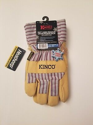 Kinco 1927 Lined Pigskin Leather Mens Work Gloves Winter