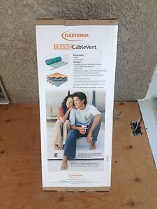 Flextherm in floor heating system with programmable thermostat