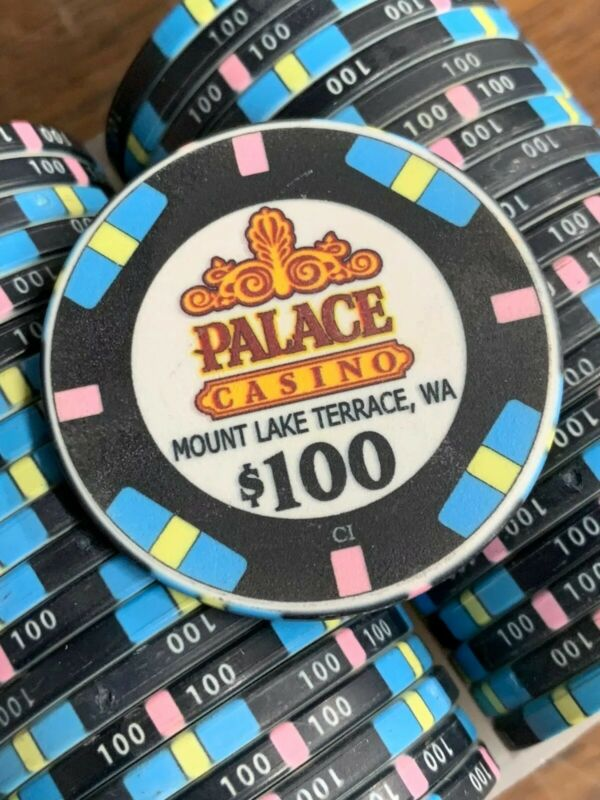 100 $100 PALACE Casino Chips - CHIPCO - 39MM BLACK
