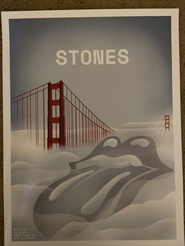 Official Rolling Stones San Francisco Levi's Stadium Poster Lithograph 7/18/2019