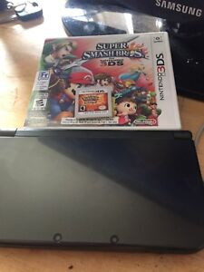 3DS XL, with Super Smash and Pokemon Sun