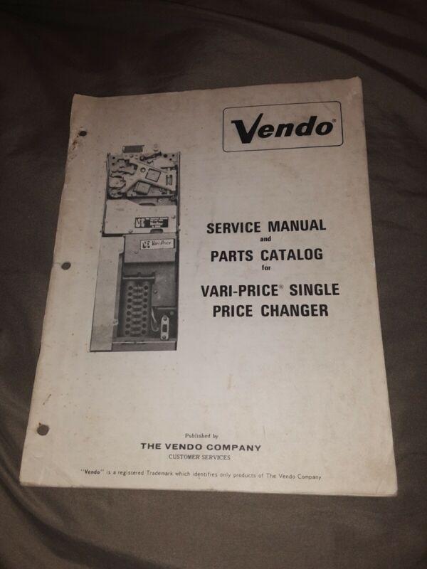 1969 Vendo Vari-Price Changer Manual